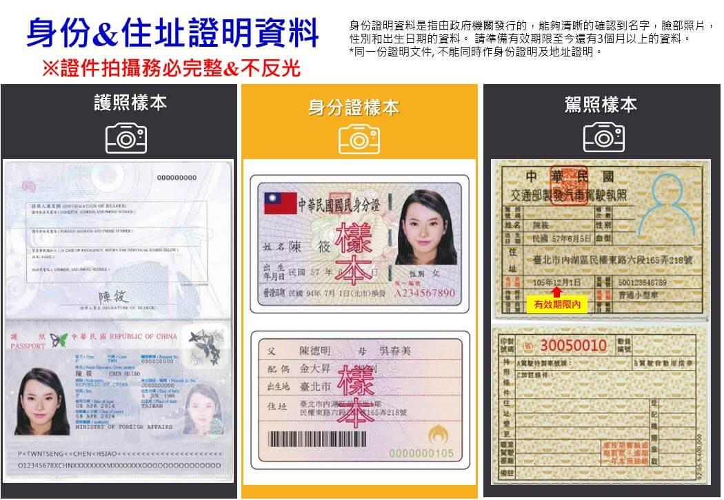 外匯保證金開戶教學-身份證明資料