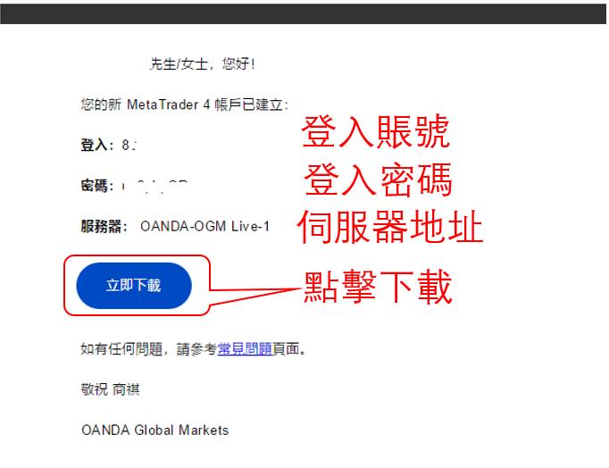 OANDA MT4交易平台下載及安裝